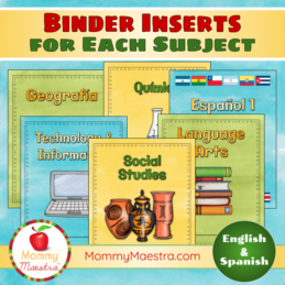 Multi-Subject Binder Covers